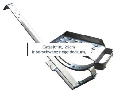EINZELTRITT Dachtritt 25cm Komplett für Biberschwanzziegel