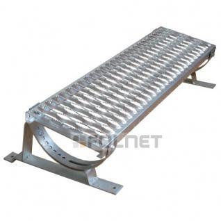 DACHTRITT 100cm Komplett für Metalldachpfannen Profil 350