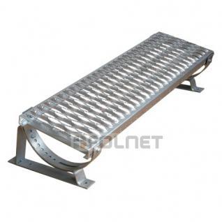 DACHTRITT 100cm Komplett für Plattdach / Trapezblech