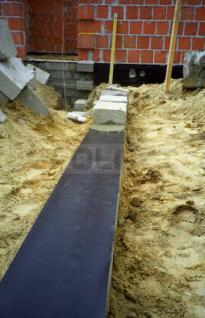 Mauerwerkssperre aus Weich-PVC / Grundmauerisolierung / Grundmauerschutzbahn / 0, 40m x 30m - Vorschau 3