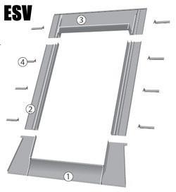 Eindeckrahmen FAKRO ESV für flache Eindeckmaterialien