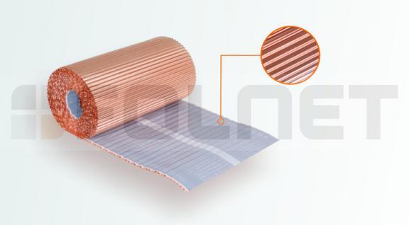 PAROTEC Wandanschlussband / Anti-Moos / Plissiertes Kupferband 0, 3m x 5m - Vorschau 1