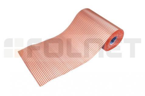 PAROTEC Wandanschlussband / Anti-Moos / Plissiertes Kupferband 0, 3m x 5m - Vorschau 4