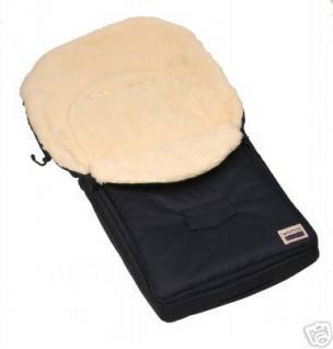 100% Lamm - Fußsack / Farbe schwarz /Neu! - Vorschau 1