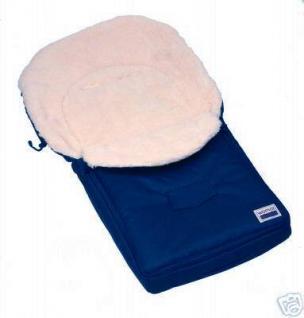 100% Lamm - Fußsack / Farbe blau /Neu!