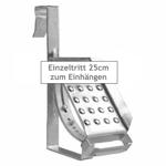 EINZELTRITT Dachtritt 25cm Komplett für DACHPFANNE DACHZIEGEL zum Einhängen