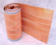 Kupfer-Firstrolle/Gratrolle mit Mikroperforation für Dachentmoosung / 400mmx5m