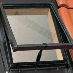 Kalt-Dachausstieg ROTO Lucarno WDL R27 H / Klapp-Funktion / Öffnung nach oben