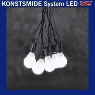 LED Party-Lichterkette 10er opal weiß Konstsmide 24V System 4641-107