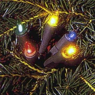 Mini-Lichterkette 10er Birnen bunt / grün Ringkette 420-80