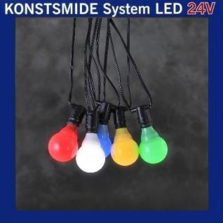 LED Party-Lichterkette 10er bunt Konstsmide 24V System 4641-507