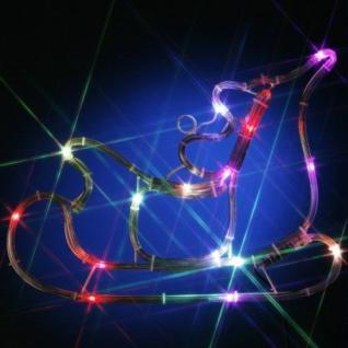 LED Lichtschlauch Silhouette Weihnachtsmann/Schlitten Farbwechsel 813-82
