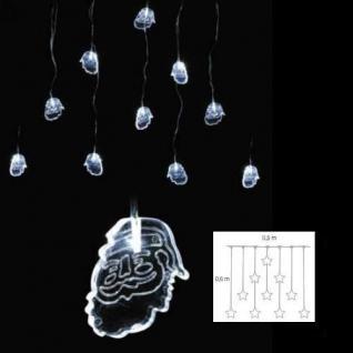 LED Lichtervorhang Weihnachtsmann 10'er 0, 5x0, 6m weiß Blachere JF369E