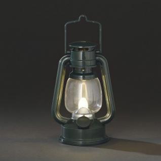LED Sturmlaterne grün warmweiss flackernd Konstsmide 4129-900