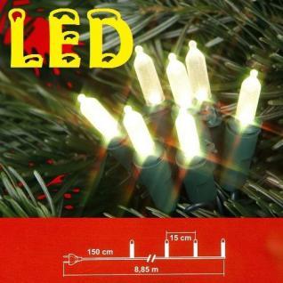 LED Mini-Lichterkette 50er warmweiss grünes Kabel Best Season 423-00