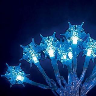 LED Lichterkette 10er Schneeflocke blau Batteriebetrieb 1260-403