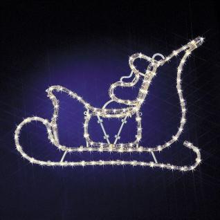 LED Lichtschlauch Silhouette Weihnachtsmann im Schlitten 813-51