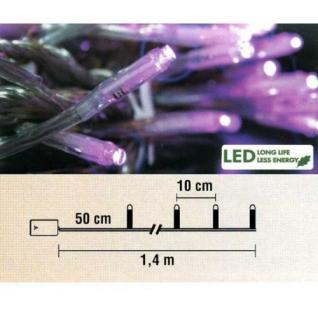 LED Lichterkette 10er Batteriebetrieb pink Best Season 725-25