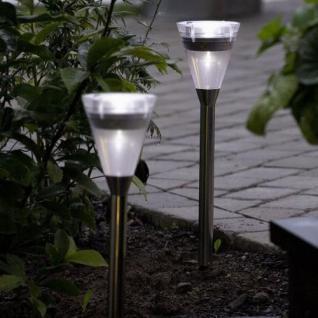 LED Solarleuchte Solarlampe Assisi Kegel stand Konstsmide 7635-000