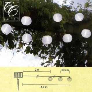 LED Solar Party-Lichterkette Lampion weiss 10er Best Season 477-13