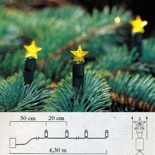 LED Lichterkette 20'er Sterne gelb Batteriebetrieb Konstsmide 1093-000