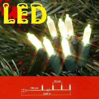LED Mini-Lichterkette 35'er warmweiss grünes Kabel Best Season 422-00