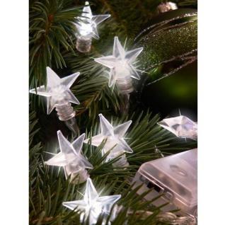 LED Lichterkette Sterne weiß 10er Batteriebetrieb F-H-S 06105