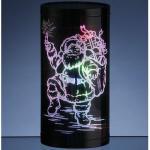 LED Leuchtbox Weihnachtsmann 20x10cm Farbwechsel Best Season 001-90