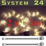 System 24 LED Lichtschlauch 2x1m extra warmweiss 491-30
