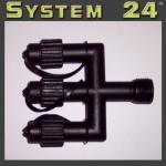 System 24 LED E-Verteiler Connector extra schwarz 490-20