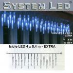 System LED Eiszapfen-Lichterkette 25/50er Extra 4x0, 4m blau 465-69