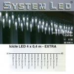 System LED Eiszapfen-Lichterkette 25/50er Extra 4x0, 4m cool light 465-68