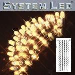 System LED Lichtervorhang extra 204er 1x4m warmweiss/schwarz 465-56-14