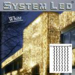 System LED Lichtervorhang 102er 1x2m warmweiß - weiß 466-56