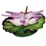 LED Schwimmlicht Seerose mit Libelle RGB Farbwechsel 066-38