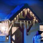 LED Eiszapfen Lichterkette 32 Zapfen kaltweiß Konstsmide 2736-202