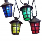 LED-Party-Lichterkette 50er Laterne Lampion 12, 25m 4 Farbig FHS 11567