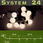 System 24 LED Party-Lichterkette Start inkl. Trafo warmweiss 492-50