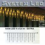 System LED Eiszapfen-Lichterkette 25/50er Extra 4x0, 4m amber 465-60
