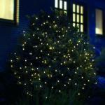 LED Lichternetz 100er warmweiß 1, 5x1, 5m Batteriebetrieb Timer aussen FHS 12014
