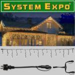 System Expo Eisregen Icicle im Set + Startkabel 48m 484-30 / 484-25