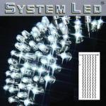 System LED Lichtervorhang 204er 1x4m cool light / schwarz 465-58-14