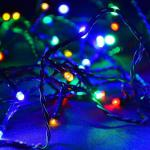 LED Lichterkette 80er bunt - grün 7, 9m aussen BA11687