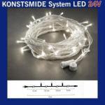 LED Lichterkette 5m 50er warmweiß 7 funkelnde 24V System 4650-143