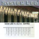 System LED Eiszapfen-Lichterkette 25/50er Extra 4x0, 4m warmweiss 465-66