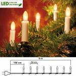LED Weihnachtsbaumbeleuchtung 16er Lichterkette 7, 5m warmweiß 401-90