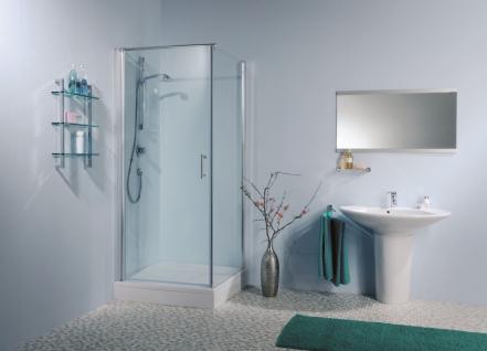 Duschabtrennung Tür mit Seitenteil