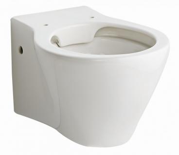 Hänge-WC mit Beschichtung | WC-Sitz mit Soft-Close | randlose Toilette