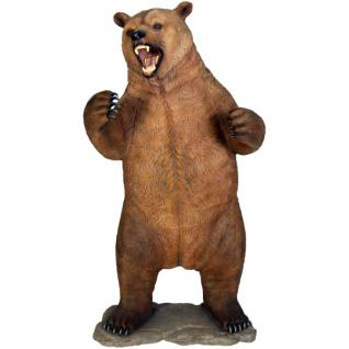 Braunbär Grizzlybär Tierfigur Werbefigur Statue lebensgroß Deko