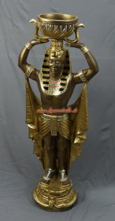 Ägyptische Wache Ägypter mit Schale Figur Statue Skulptur Fan Dekoration Mächtig